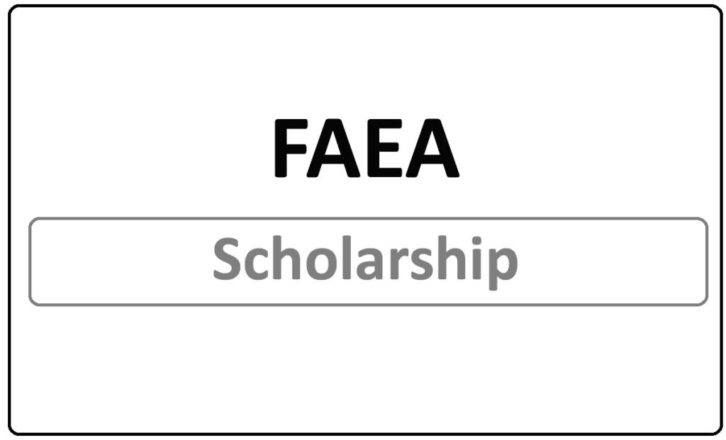 FAEA Scholarship 2021