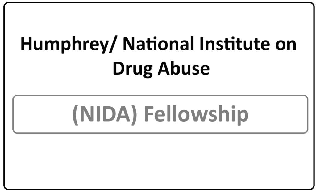 Humphrey/ National Institute on Drug Abuse (NIDA) Fellowship