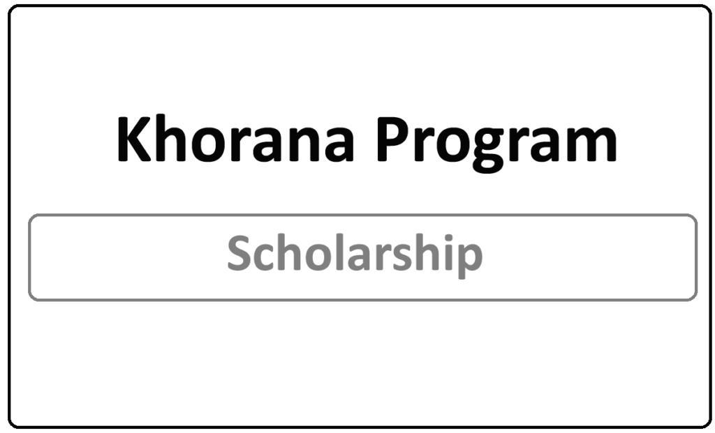 Khorana Program for Scholarship 2021