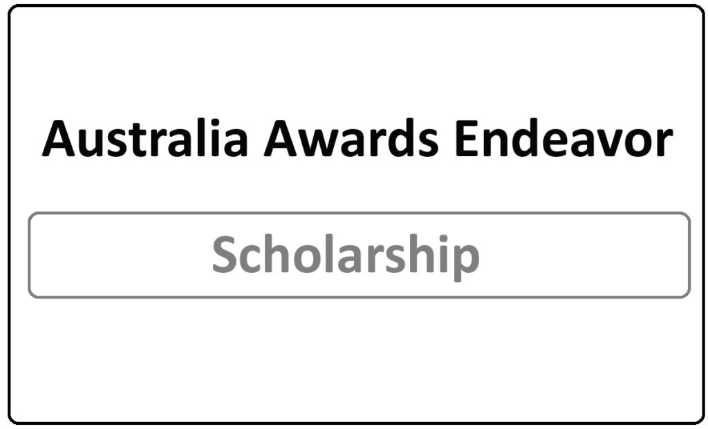 Australia Awards Endeavor Scholarships 2021