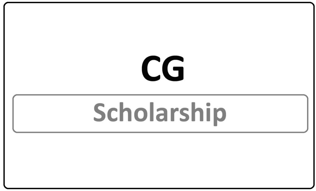 CG Scholarship online Application 2021