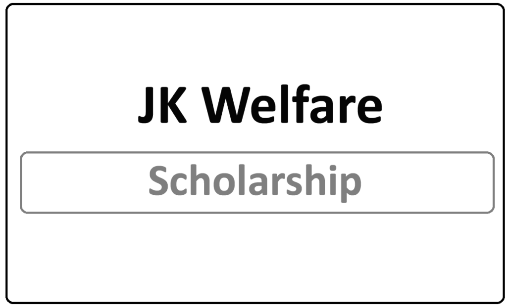 JK Welfare Scholarship Status check 2021