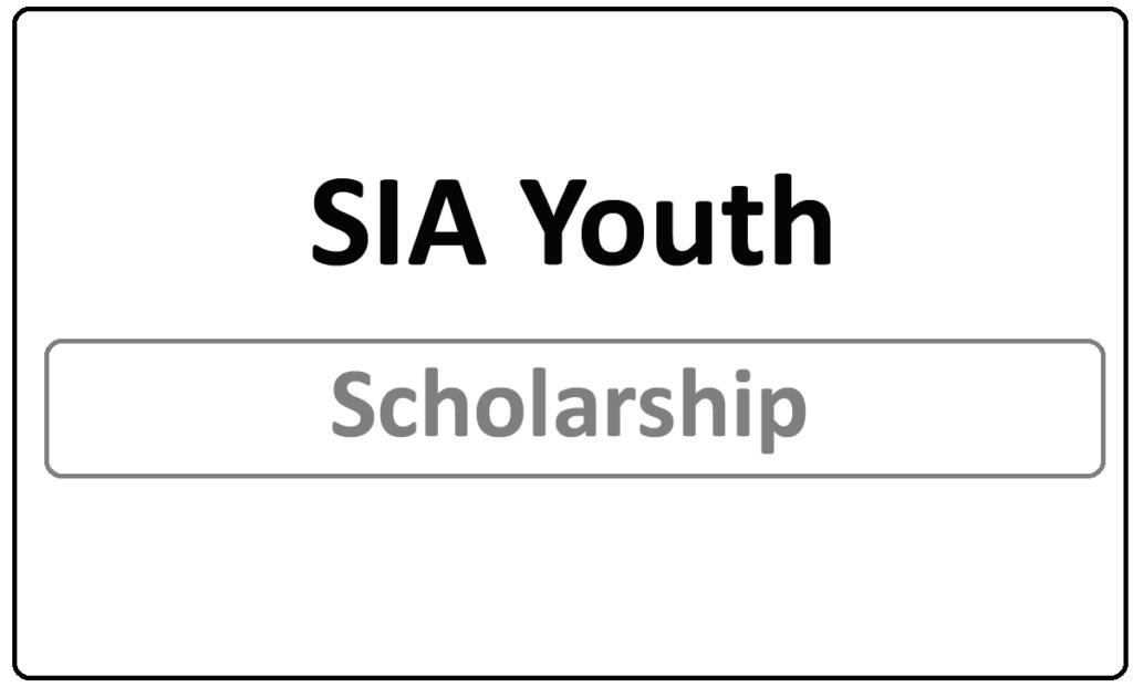 SIA Youth Scholarship 2021